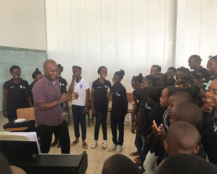 Voices of Haiti choir sang their hearts out today! It w...
