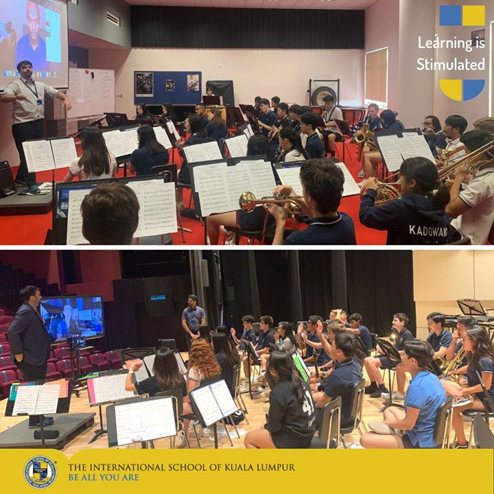 In preparation for the ColorFULL concert, our HS Band h...